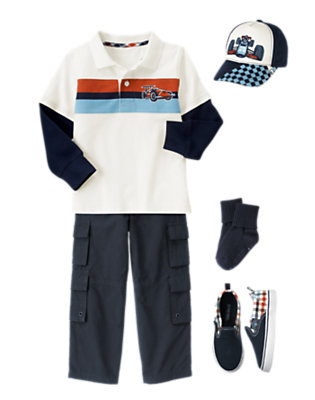 Boy's Junior Racer Outfit by Gymboree