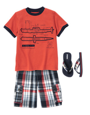 Boy's Submarine Style Outfit by Gymboree