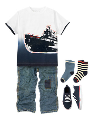 Boy's Anchors Aweigh Outfit by Gymboree