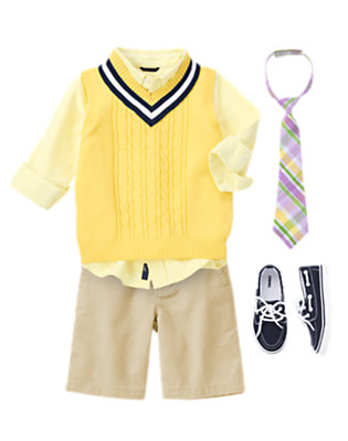 Boy's Bright Prepster Outfit by Gymboree