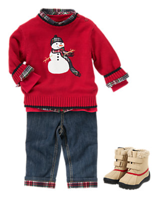 Jolly Snowman Outfit by Gymboree