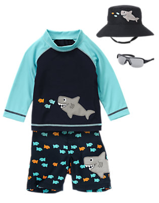 Fishy Business Outfit by Gymboree