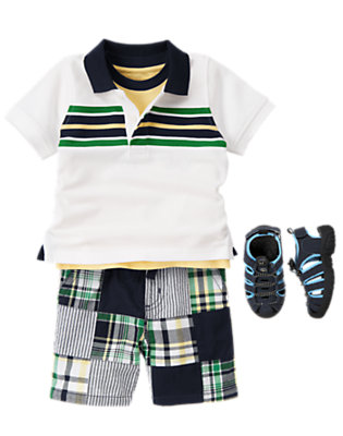 Preppy In Patchwork Outfit by Gymboree