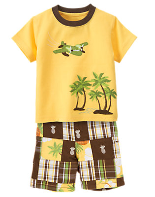 Toddler Boy's Patchwork Paradise Outfit by Gymboree