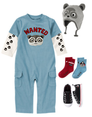Playful Raccoon Outfit by Gymboree