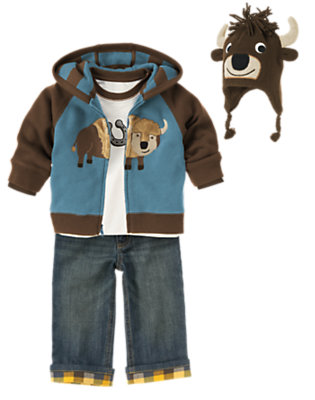 Toddler Boy's Bison Buddies Outfit by Gymboree