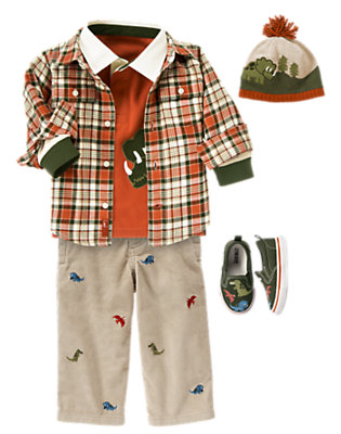 Toddler Boy's Dinosaur Prepster Outfit by Gymboree