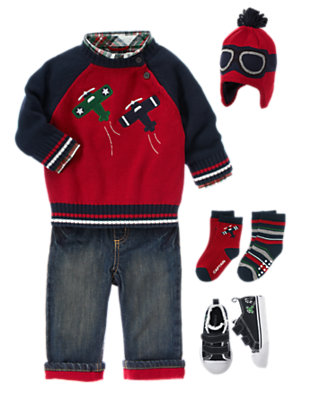 Toddler Boy's Up, Up And Away! Outfit by Gymboree
