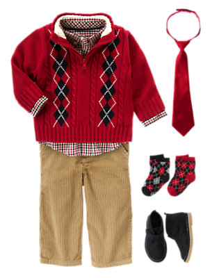 Merry Gentleman Outfit by Gymboree