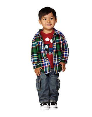 Toddler Boy's Little Engine Outfit by Gymboree
