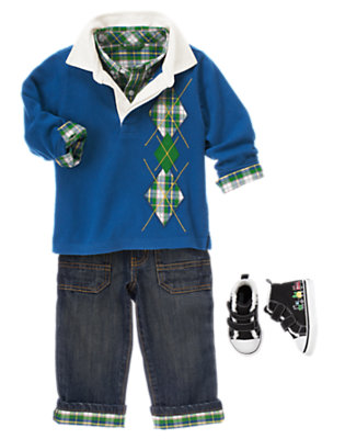 Tartan Playtime Outfit by Gymboree