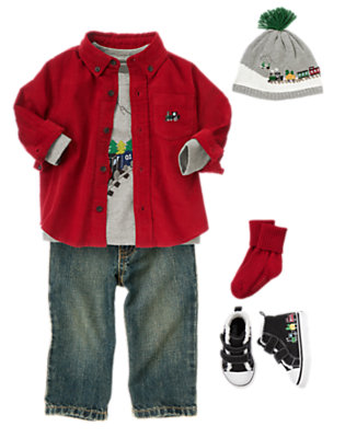 Toddler Boy's Choo-Choo! Outfit by Gymboree