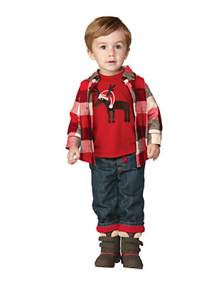 Toddler Boy's Moose Baby Outfit by Gymboree