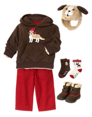 Toddler Boy's Festive Friends Outfit by Gymboree