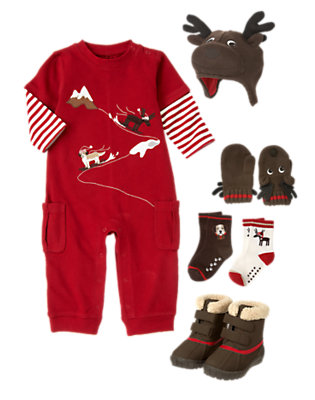 Toddler Boy's Sledding Pals Outfit by Gymboree