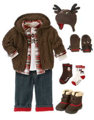 Toddler Boy's Moosing Around Outfit by Gymboree