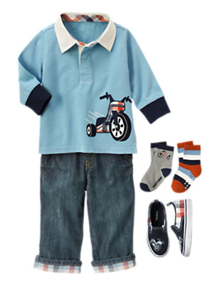 Toddler Boy's Zoom! Outfit by Gymboree