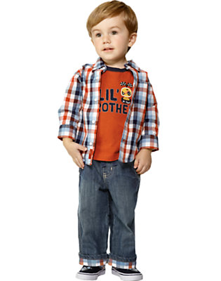 Plaid Pit Crew Outfit by Gymboree