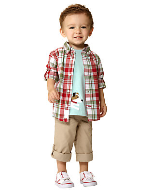 Toddler Boy's Ballpark Pup Outfit by Gymboree