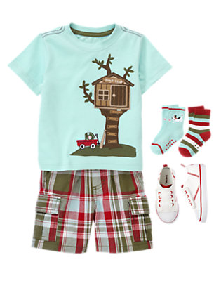 Toddler Boy's Tree House Fun Outfit by Gymboree