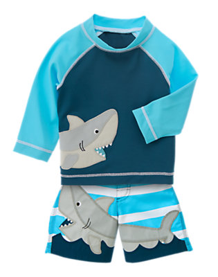 Toddler Boy's Shark Pals Outfit by Gymboree