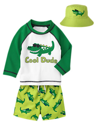 Toddler Boy's Awesome Alligator Outfit by Gymboree