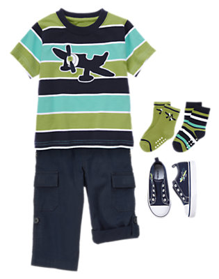 Toddler Boy's Soaring Stripes Outfit by Gymboree