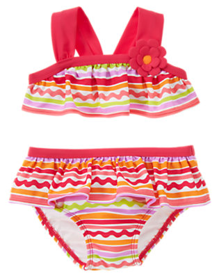 Toddler Girl's Seaside Stripes Outfit by Gymboree