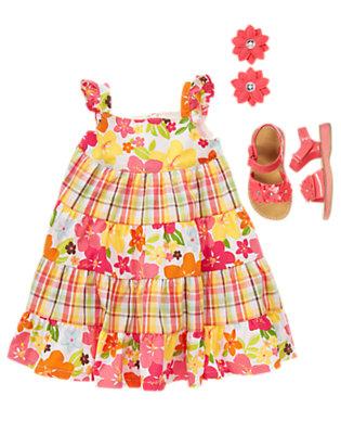 Petals & Plaid Outfit by Gymboree