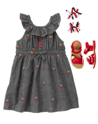 Toddler Girl's Chambray Berry Outfit by Gymboree