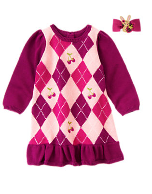 Argyle Berry Outfit by Gymboree
