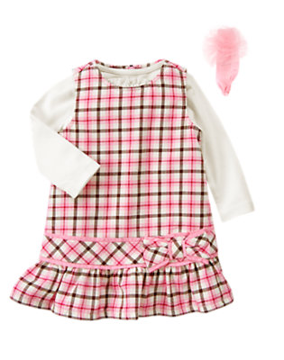 Toddler Girl's Festive Plaid Outfit by Gymboree