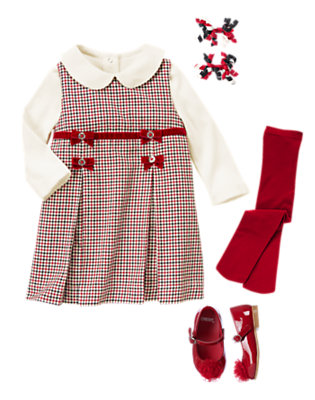 Cheery In Checks Outfit by Gymboree