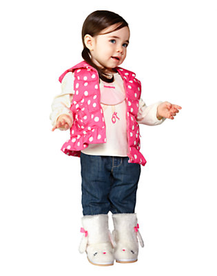 Toddler Girl's Layered In Dots Outfit by Gymboree