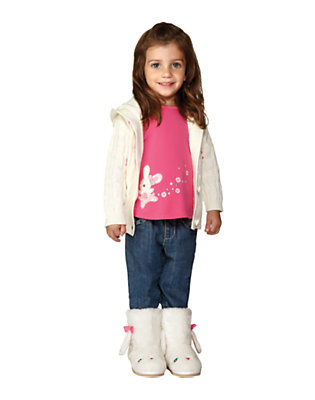 Toddler Girl's Winter Bunny Outfit by Gymboree