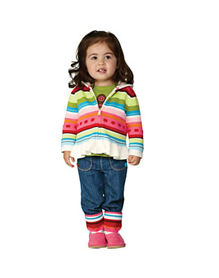 Toddler Girl's Stripes & Mittens Outfit by Gymboree
