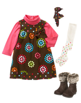 Dots & Flowers Outfit by Gymboree