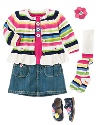 Stripes & Flowers Outfit by Gymboree