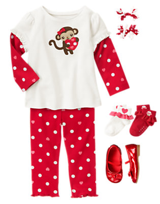 Toddler Girl's Loveable Monkey Outfit by Gymboree
