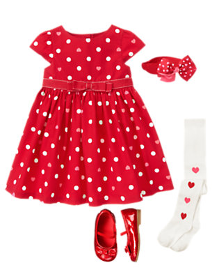 Toddler Girl's Valentine Sweetheart Outfit by Gymboree