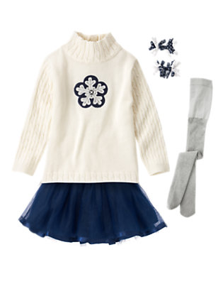 Toddler Girl's Snowflake Twirl Outfit by Gymboree