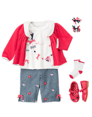Toddler Girl's Bright Little Sailor Outfit by Gymboree