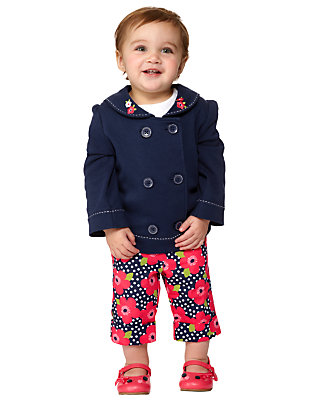 Toddler Girl's Cute Nautical Outfit by Gymboree