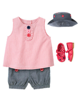 Toddler Girl's Chambray Darling Outfit by Gymboree