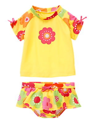 Toddler Girl's Splashy Blossom Outfit by Gymboree