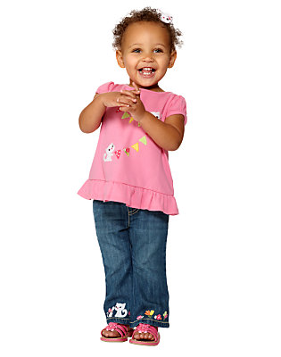Too-Cute Kitties Outfit by Gymboree