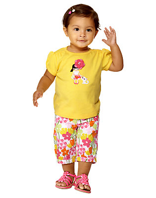 Stylish Flower Outfit by Gymboree