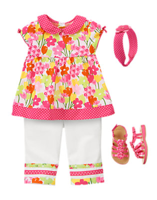 Toddler Girl's Playful Petals Outfit by Gymboree