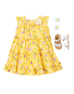 Bright & Twirly Outfit by Gymboree