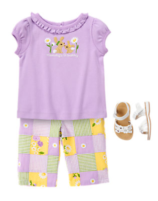 Toddler Girl's Patchwork Bunny Outfit by Gymboree